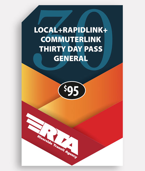 General 30 Day Pass | Commuter + Local