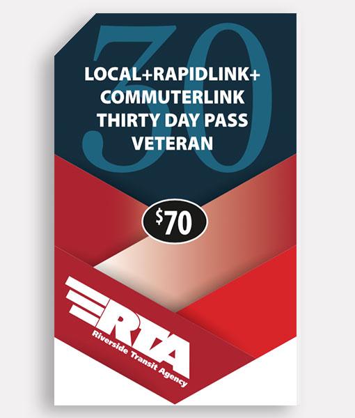 Veteran 30 Day Pass | Commuter + Local