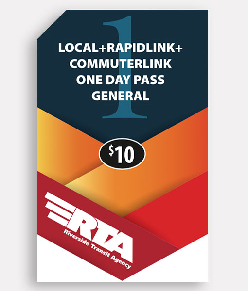 General 1 Day Pass | Commuter + Local